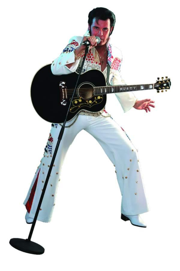 Mit Leidenschaft und Faszination bei der Arbeit. Rusty - Elvis Tribute Artist
