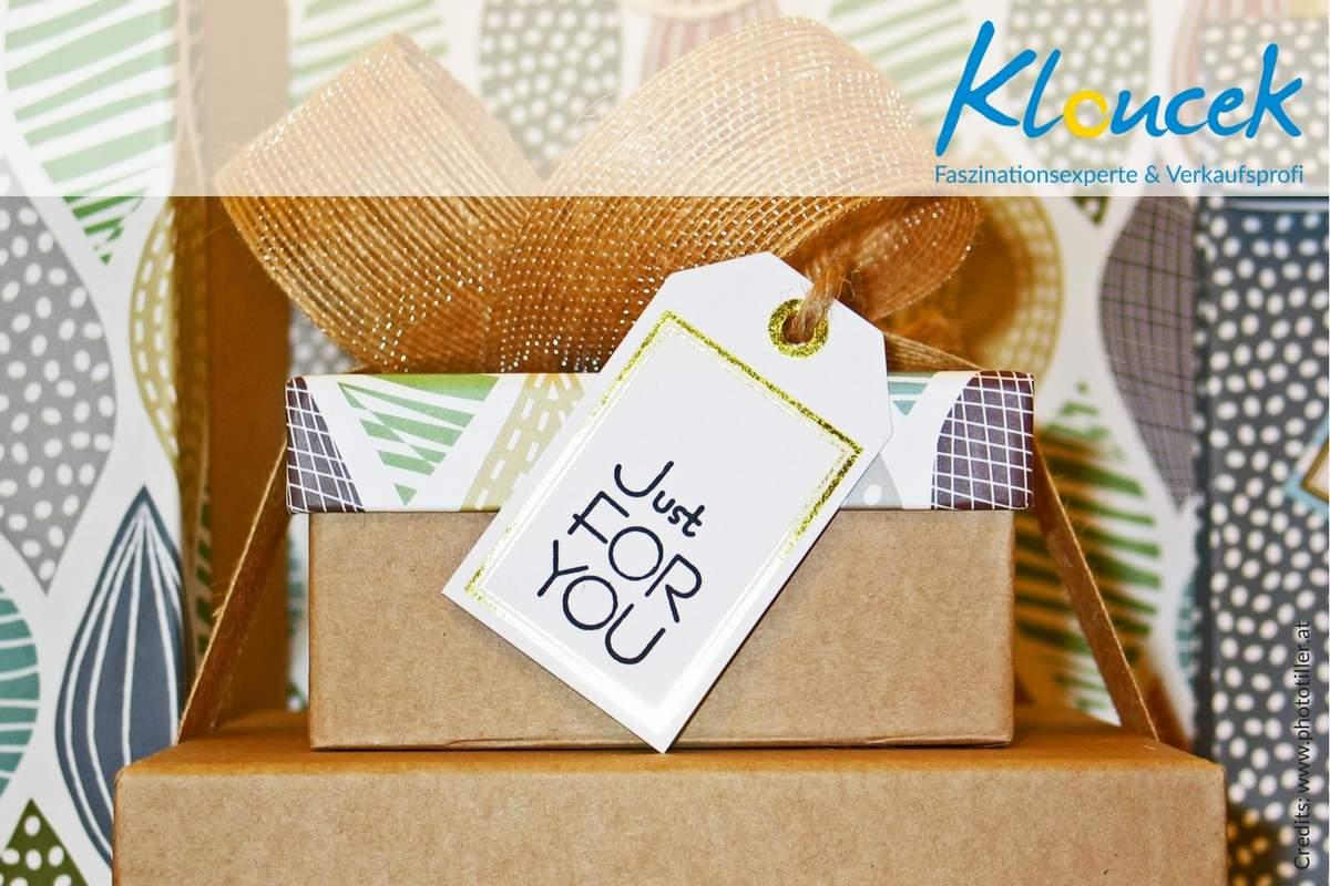 Nicht Informationen, sondern geschenke verkaufen! Bernhard Kloucek - Verkaufsprofi und Faszinationsexperte