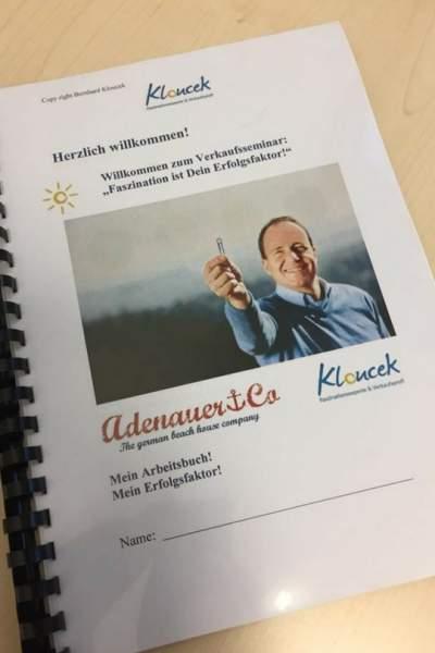 Das neue Workbook von Bernhard Kloucek