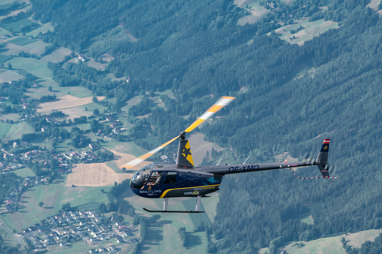 Thomas Morgenstern Helicopter